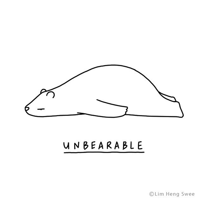 Funny Moody Animals Doodle Series From Lim Heng Swee