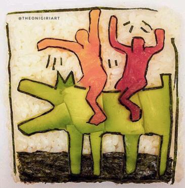 Sushi art - Keith Haring