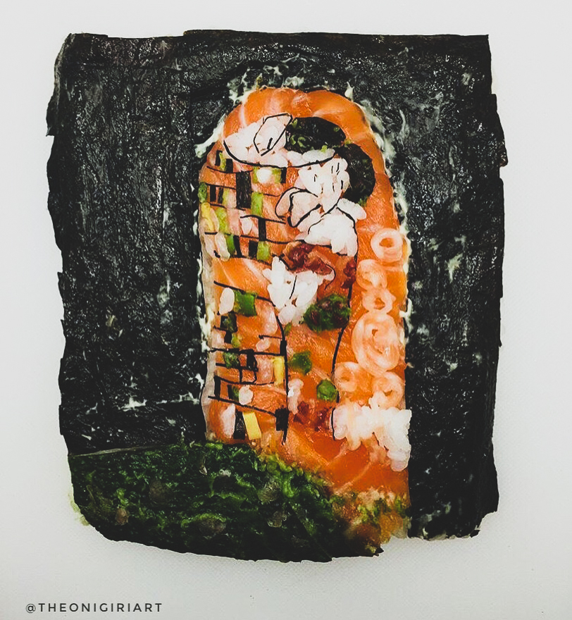 Yujia Hu's Sushi Art Revisited ~ Fish-Forgeries of Famous Paintings