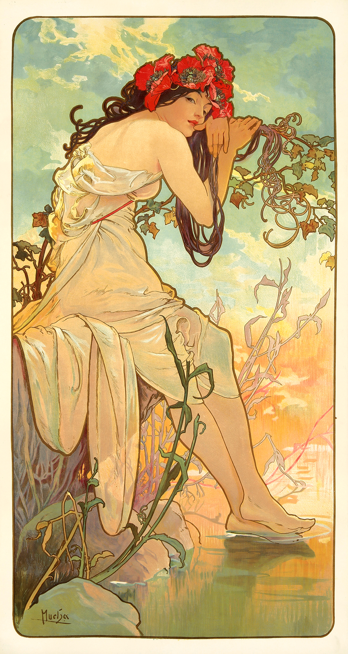The Seasons - Summer - By Alfons Mucha 1896