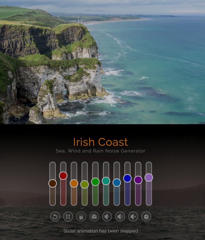 Background Noise Generator - The Sound Of The Irish Coast