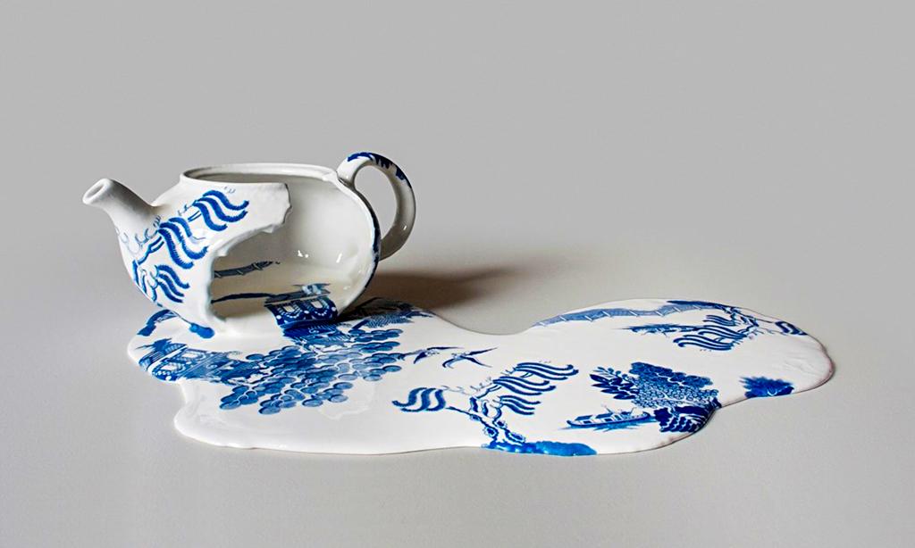 Broken Things, art by Livia Marin. Ceramic, resin, plaster, transfer-print