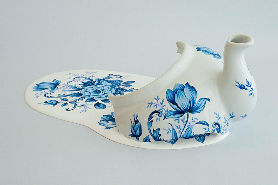 Broken Things. Art by Livia Marin. Ceramic, resin, plaster, transfer-print.