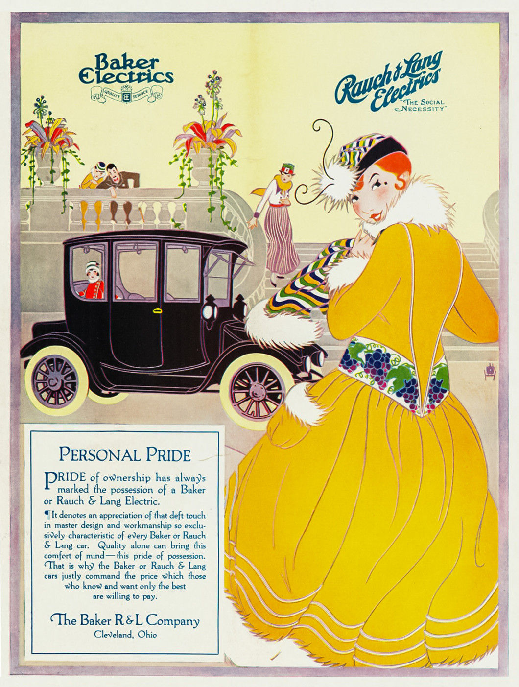 Baker Rauch Lang Electrics Ad 1916