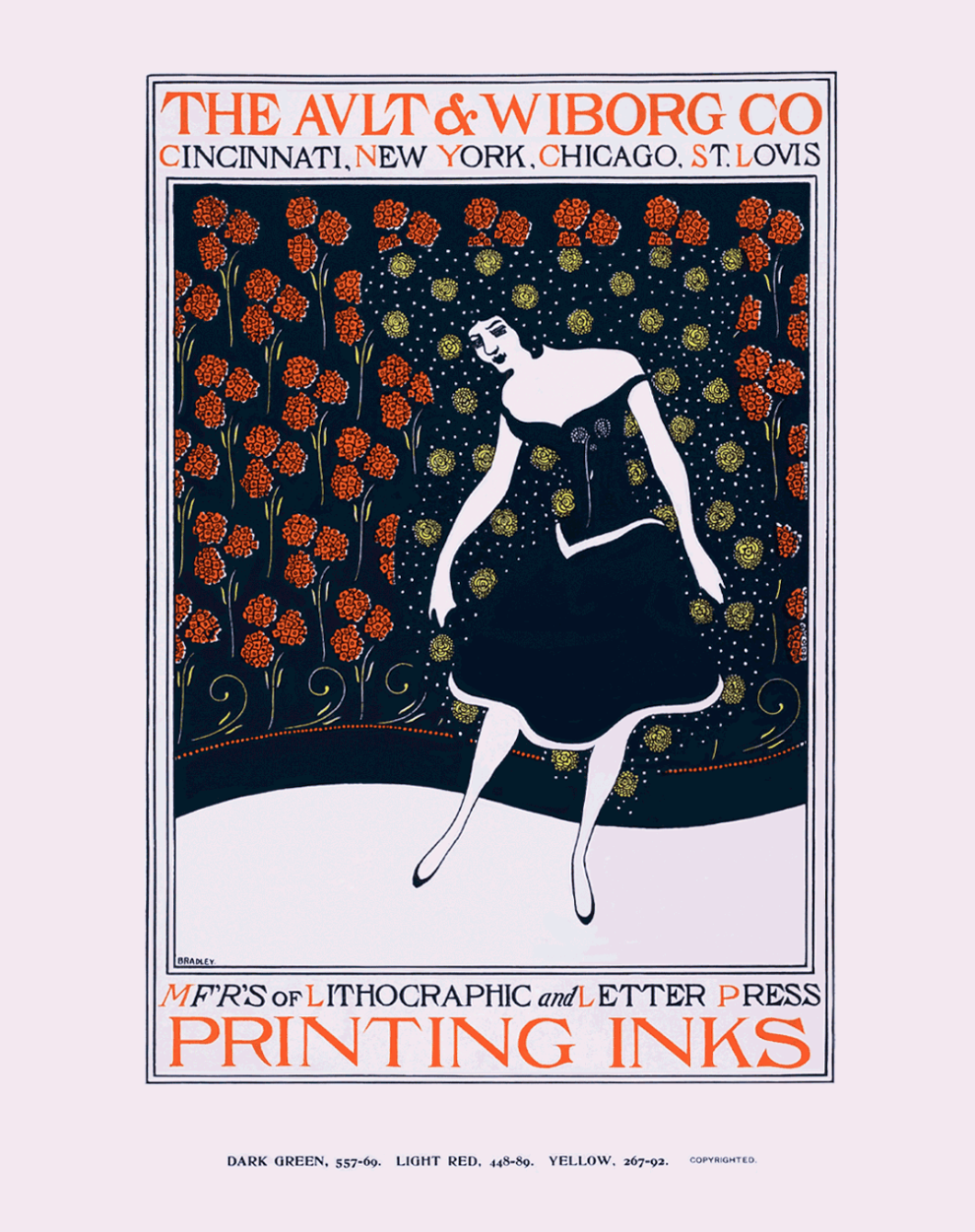 Ault and Wiborg Makers of FIne Printing and Lithographic Inks. Poster Series 1900