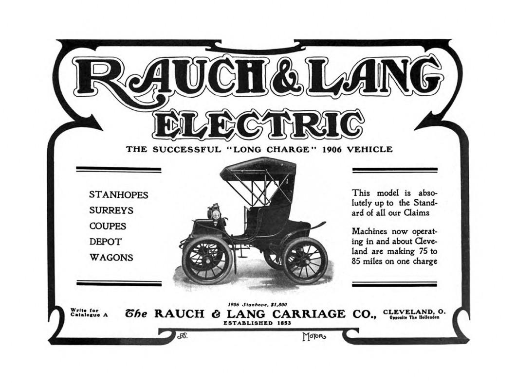 Rauch Lang Electrics Ad 1906