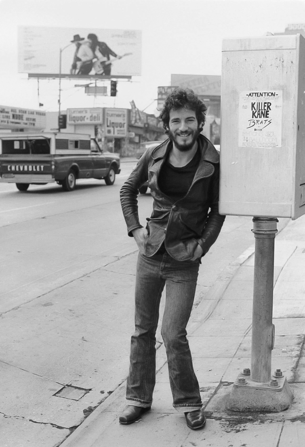 Bruce Springsteen for Born to Run, Los Angeles, 1975. Photo: Terry O'Neill