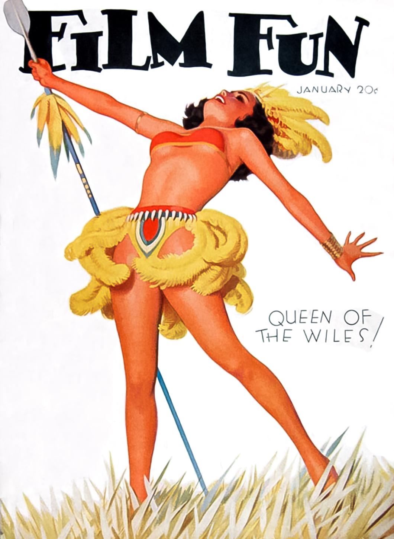 Film Fun Magazine Cover January 1934