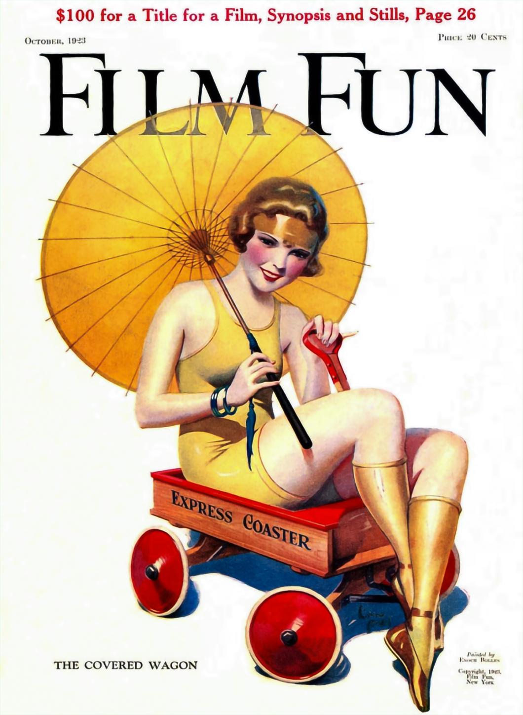 Film Fun Magazine Cover October 1923