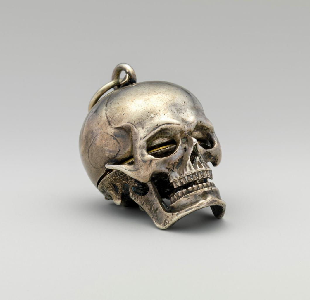 Isaac Penard Skull Timepiece c.1710s