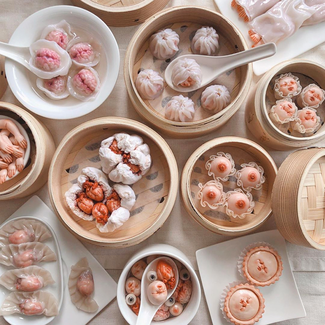 The Art of Qimmyshimmy Lim Qixuan, packaged ceramic baby parts.