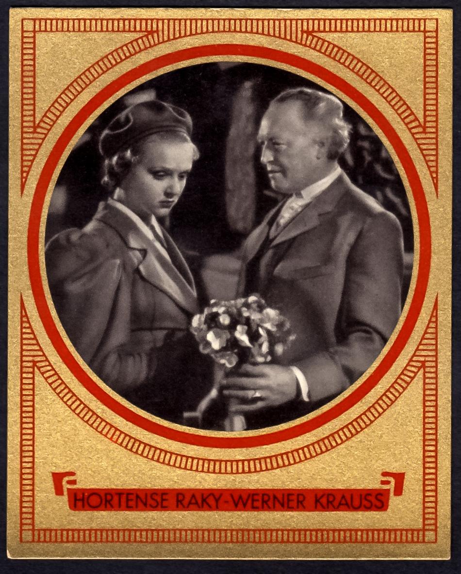 Brinkmann's Cigarette Cards   Hortense Raky and Werner Krauss   #2