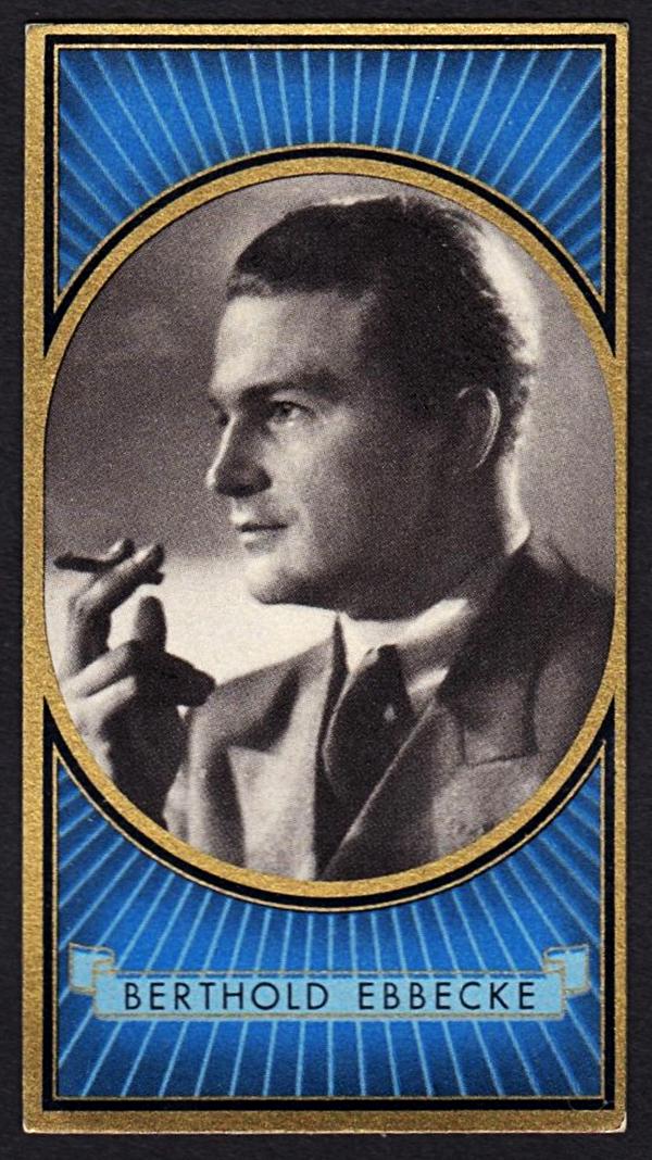 Brinkmann's Cigarette Cards   Berthold Ebbecke   #10