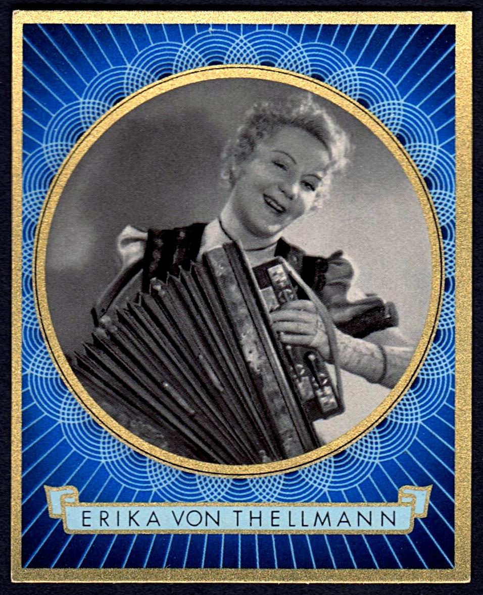 Brinkmann's Cigarette Cards   Erika von Thellmann   #11