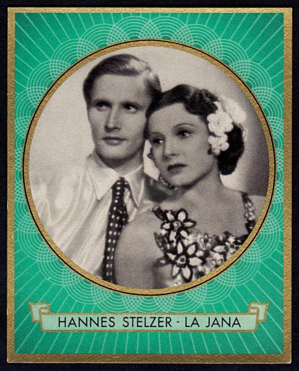 Brinkmann's Cigarette Cards   Hannes Stelzer and La Jana   #13