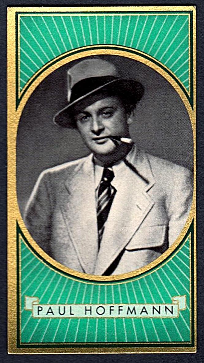 Brinkmann's Cigarette Cards   Paul Hoffman   #15