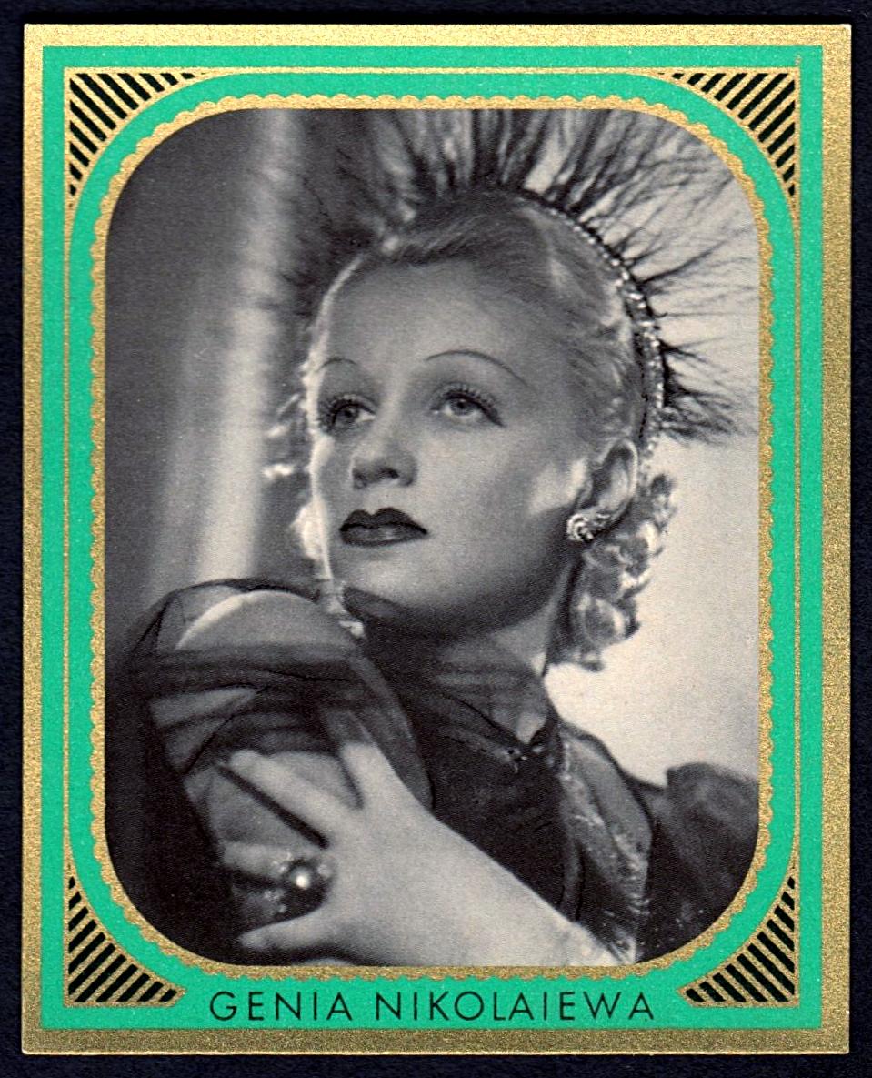 Brinkmann's Cigarette Cards   Genia Nikolajewa   #16