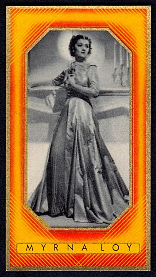 Brinkmann's Cigarette Cards   Myrna Loy   #21