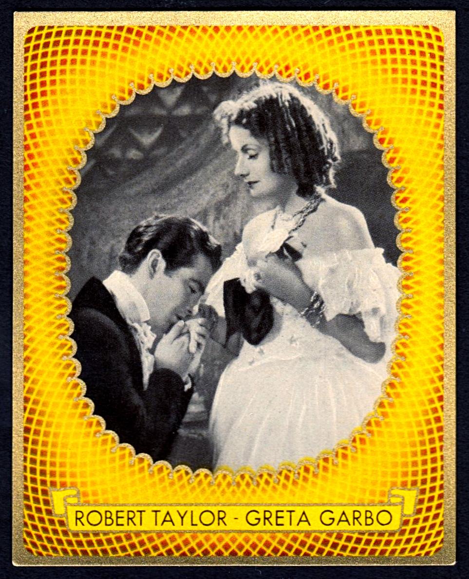 Brinkmann's Cigarette Cards   Robert Taylor and Greta Garbo   #22