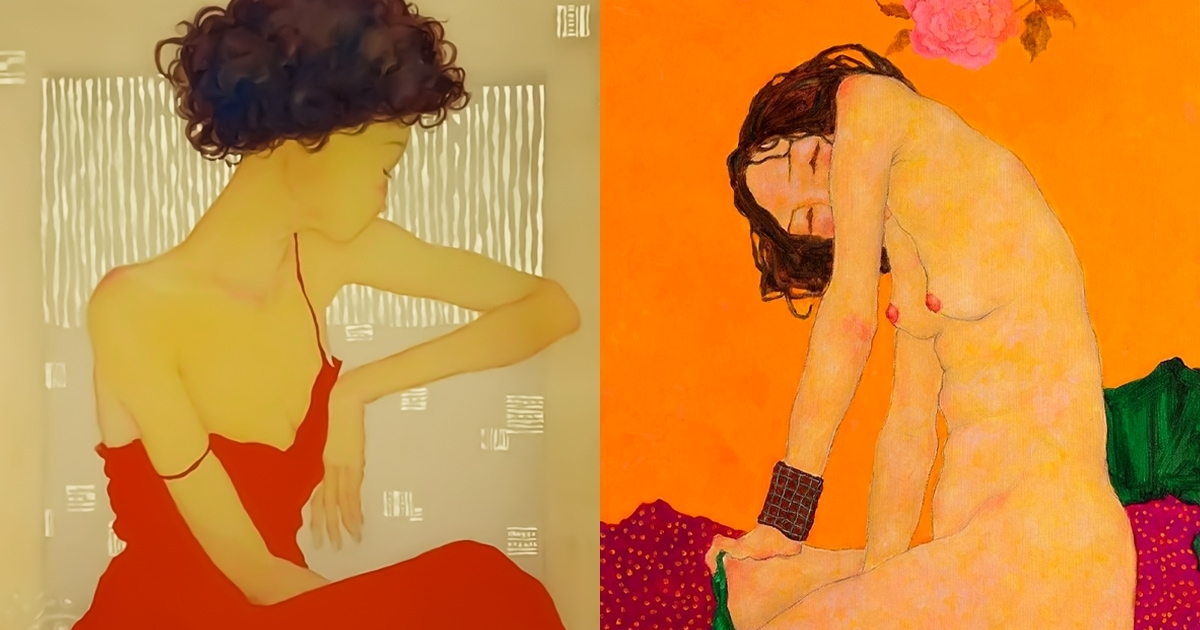 Two paintings by Xi Pan