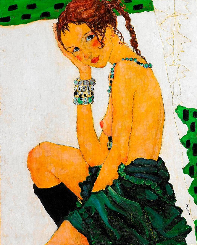 Xi Pan Semi Nude Sitting 02/10