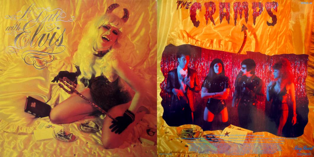 The Cramps / Album: A Date with Elvis (front and back cover) / 1986