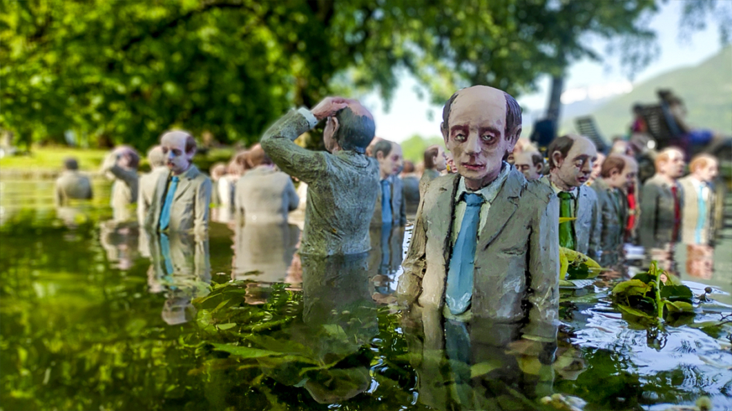 Isaac Cordal Follow the Leader 03