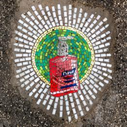 Jim Bachor Pothole Mosaics | Purell
