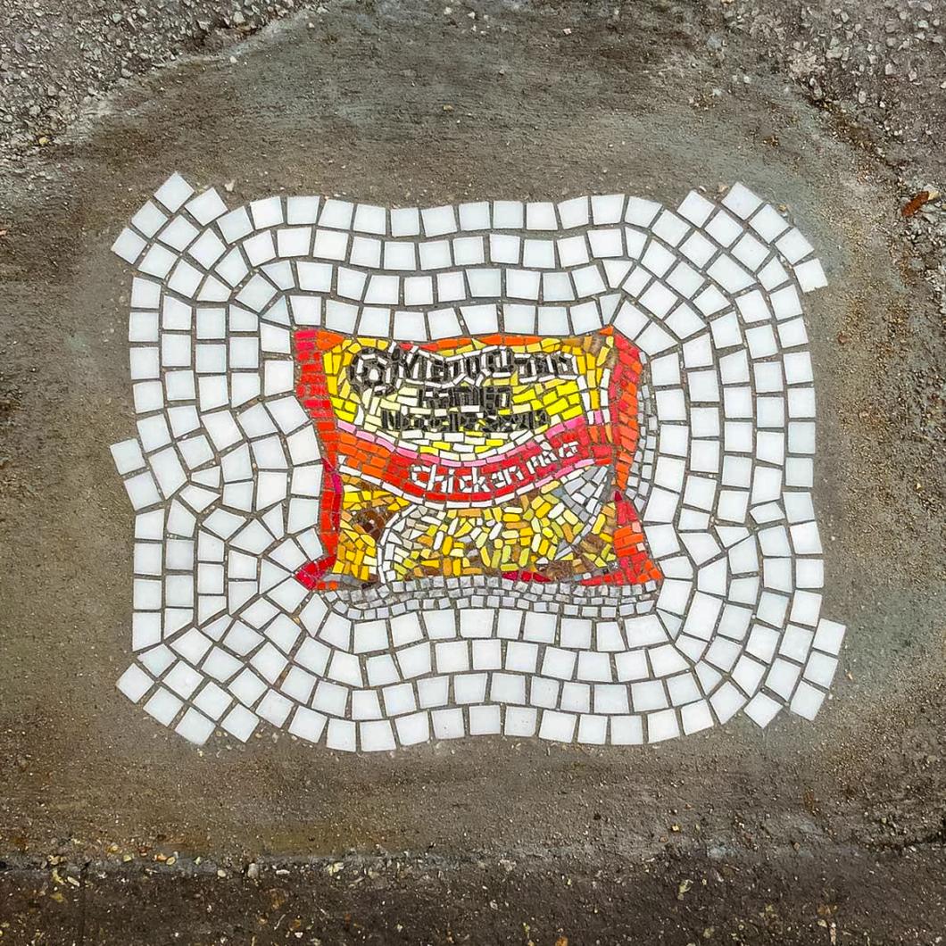Jim Bachor Pothole Mosaics   Ramen
