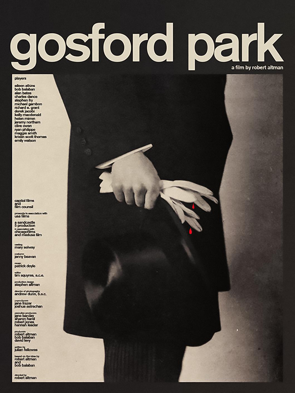Midnight Marauder Re-imagines Robert Altman Film Posters - Gosford Park
