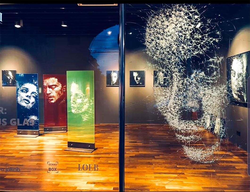 Simon Berger Shattered Glass Installation