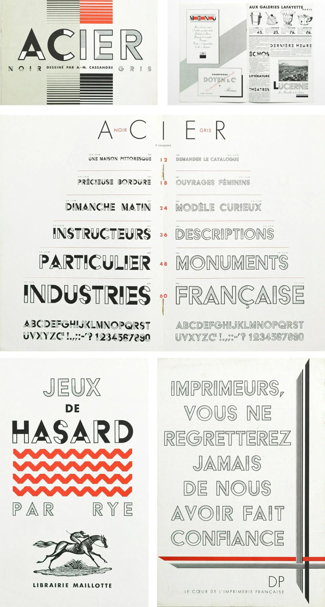 Acier Display Typeface Booklet