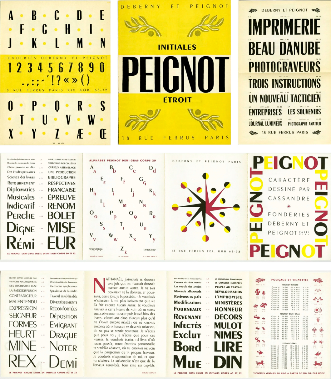 Peignot Typeface Booklet
