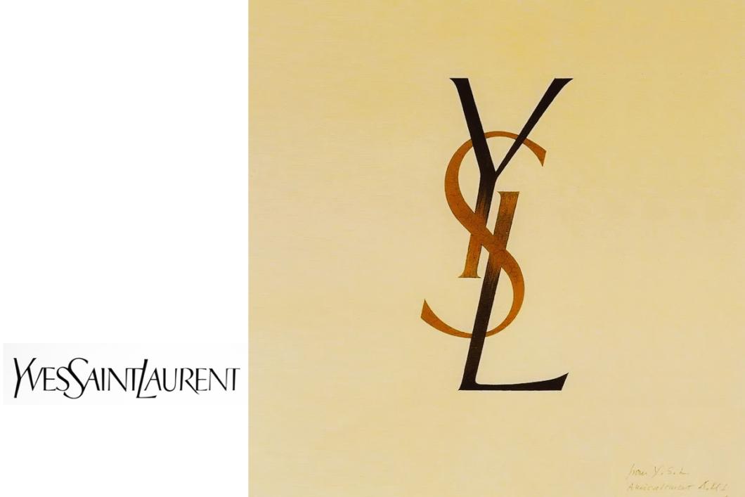 The original hand drawn YSL Logo