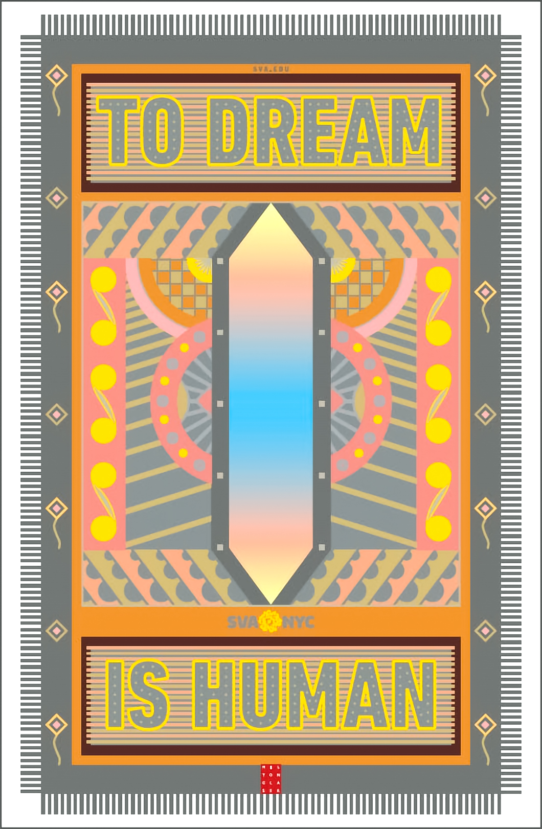 Milton Glaser 1929-2020 Poster To Dream is Human