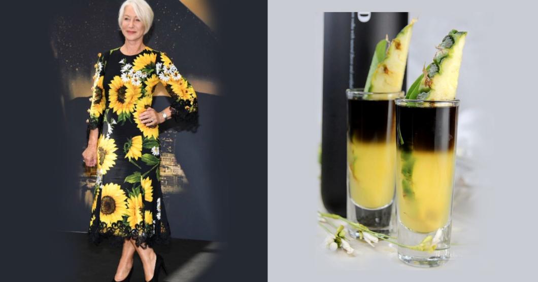 Dame Helen Mirren as cocktails