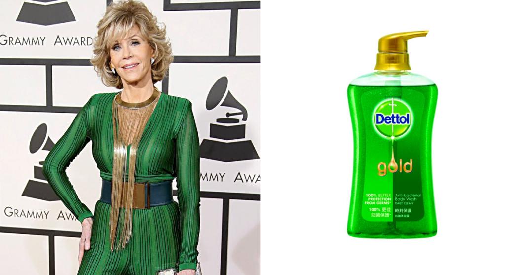 Jane Fonda as hand wash