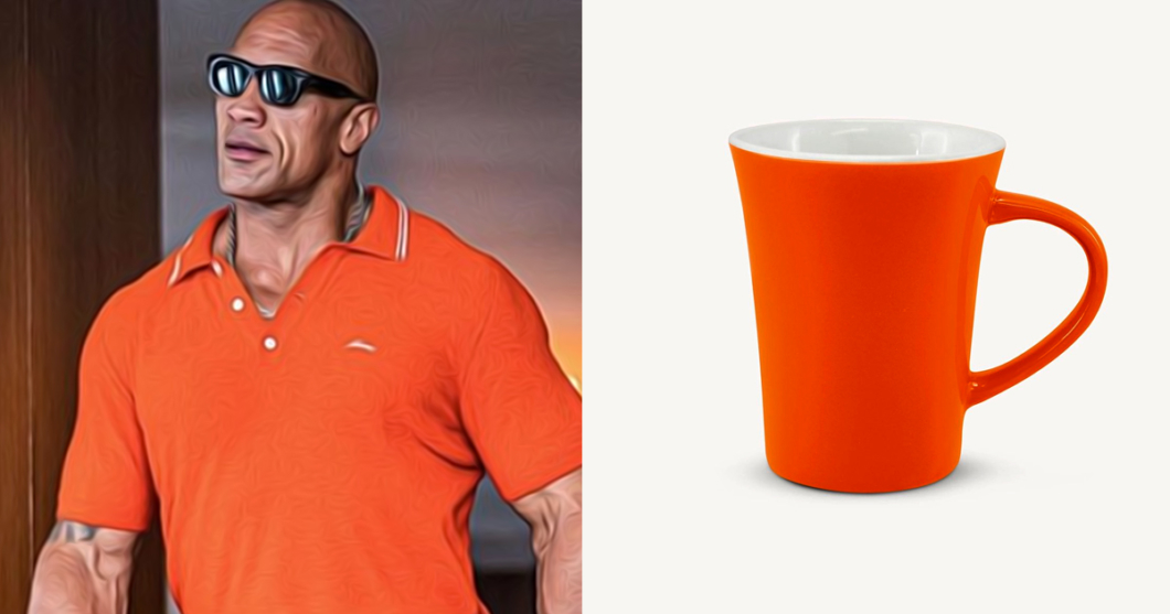 Dwayne Johnson aka The Rock as coffee mugs