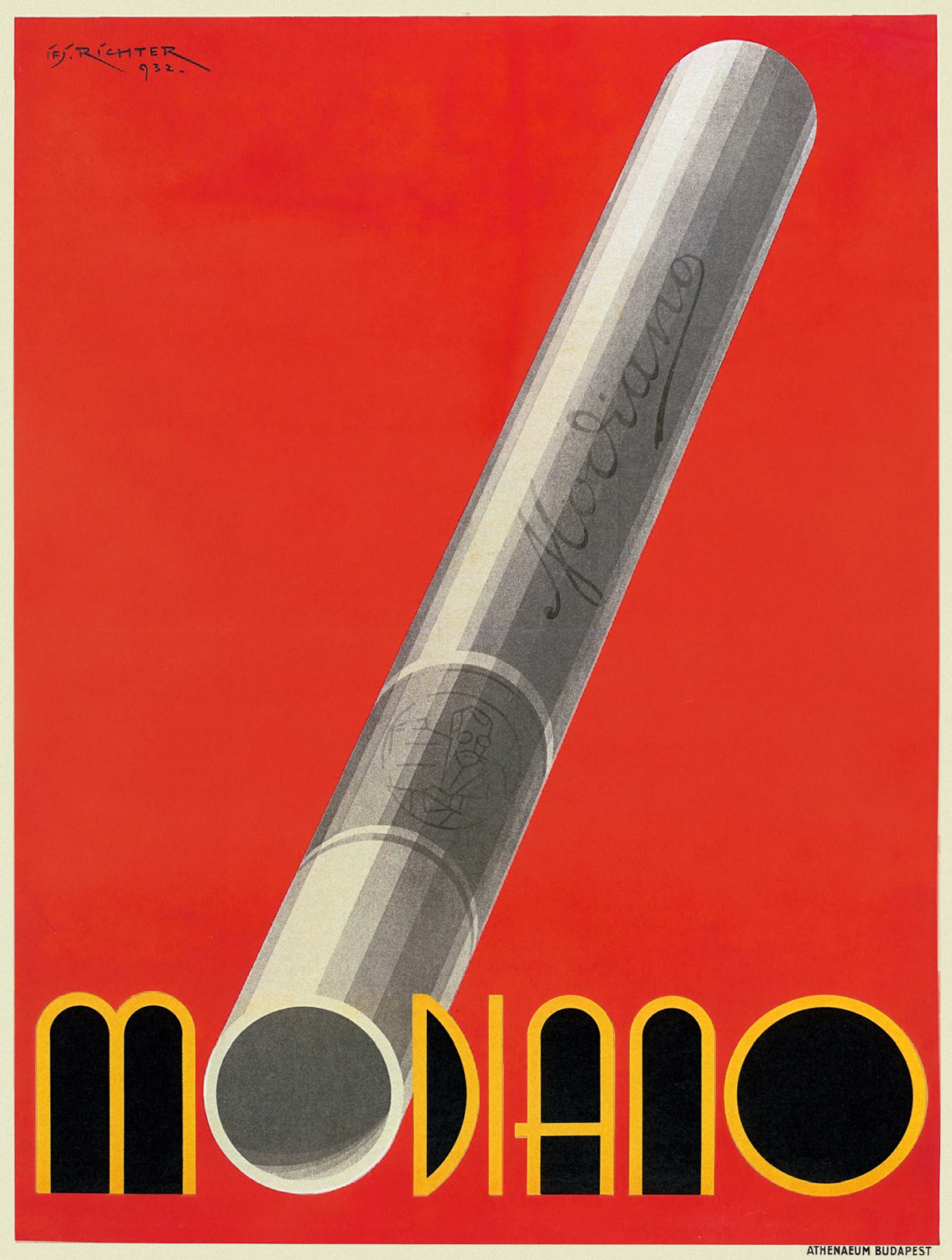 Modiano Cigarette Poster by Aladar Richter 1932
