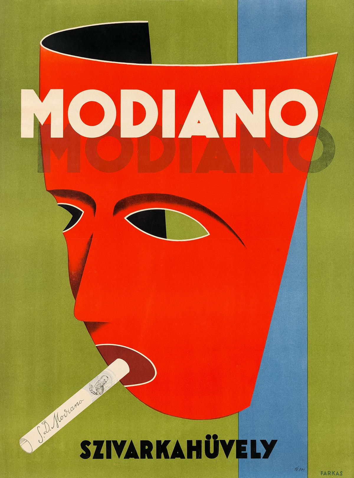 Modiano Cigarette Poster by Andreas Farkas 1929