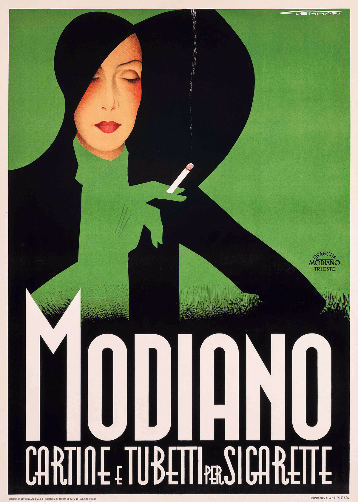 Modiano Cigarette Poster by Franz Lenhart 1933