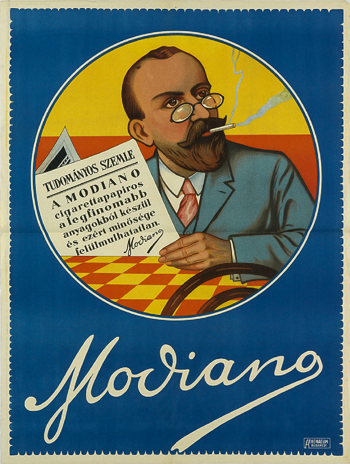 Modiano Cigarette Poster by Unknown 1928