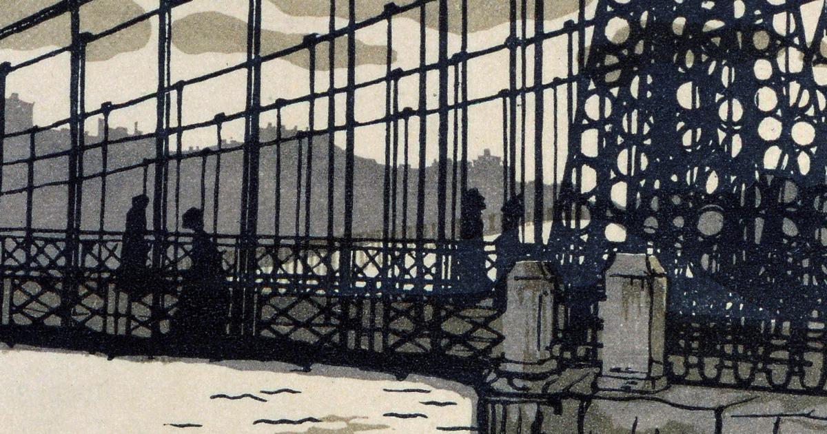Chain Bridge 1903 Detail