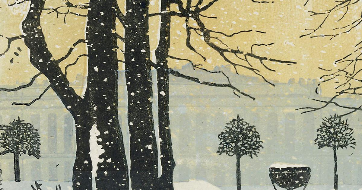 The Summer Garden in Winter 1902 Detail