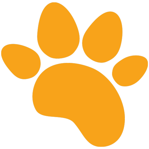 Puppies and Flowers Paw Logo