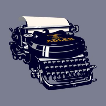 writers block adler typewriter