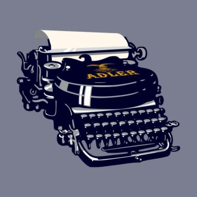 writers block typewriter