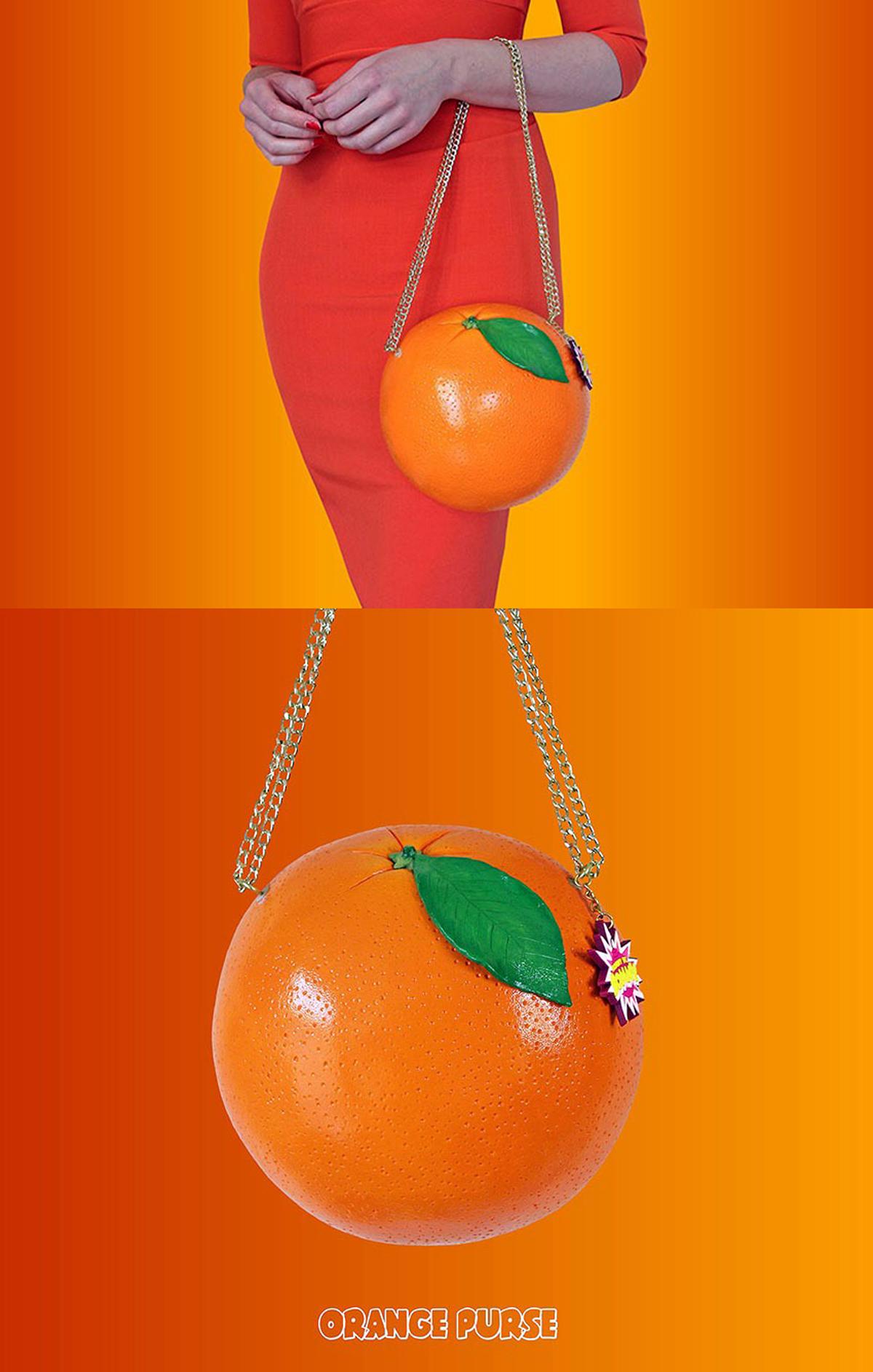 RommyDeBommy Orange Purse