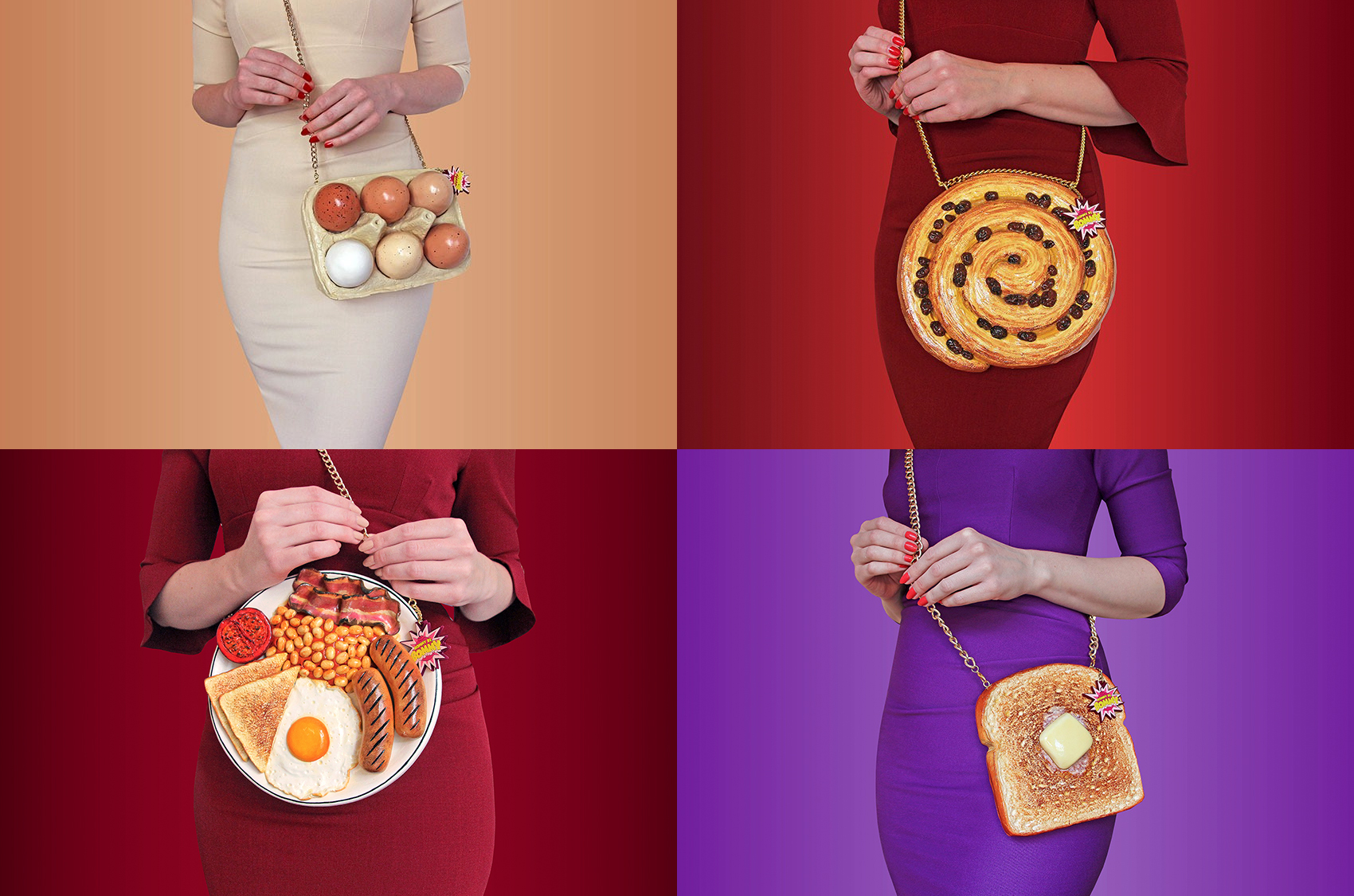 RommyDeBommy 4 Food themed purses