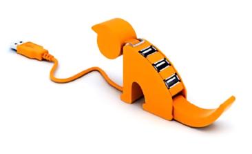Cat shaped USB hub